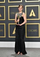 Hildur Gudnadottir wore Chanel at the 92nd Academy Awards in Los Angeles (photo by Amy Sussman)