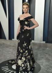 Natalie Dormer in Vivienne Westwood Couture . Vanity Fair Oscar Party 2020 (photo byAP/LaPresseEvan Agostini)
