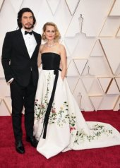 Adam Driver wearing Burberry to the 92nd Annual Academy Awards in Los Angeles (photo by Robyn Beck))