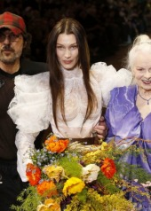 Bella Hadid, Andreas Kronthaler for Vivienne Westwood Fall Winter 2020 collection