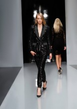 Babylon black tuxedo catwalk