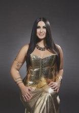 Camilla Antonaroli interpreta Cleopatra .  Calendario Beautiful Curvy