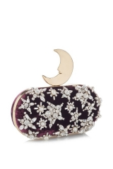 Benedetta Bruzziches purple smiling moon-clutch