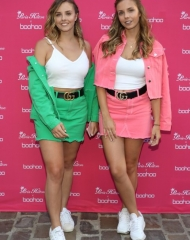 Anais Quadratus and Manon Quadratus attend Paris Hilton x Boohoo Party