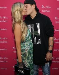 Paris Hilton and Chris Zylka attend Paris Hilton x Boohoo Party