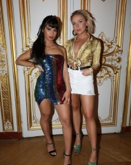 Guests attend Paris Hilton x Boohoo Party at Hotel Le Marois