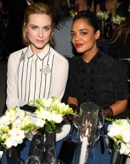 Evan Rachel Wood, (wearing Bottega Veneta),Tessa Thompson