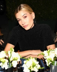 Hailey Baldwin, (wearing Bottega Veneta)