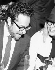 JJ Abrams, Diane Keaton (wearing Bottega Veneta)