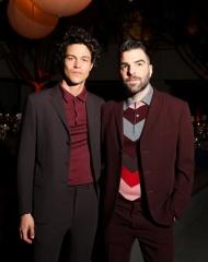 Miles McMillan, Zachary Quinto, (wearing BOTTEGA VENETA)