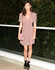 Rainey Qualley, (wearing Bottega Veneta)