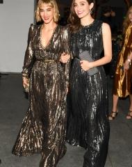 Sofia Boutella, Emmy Rossum, (wearing Bottega Veneta)