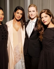 Tessa Thompson, Priyanka Chopra, Evan Rachel Wood, Selma Blair, (wearing BOTTEGA VENETA)