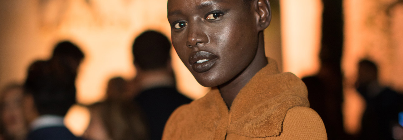 Ajak Deng attends Bottega Veneta's 'The Hand of the Artisan Cocktail Dinner' at Chiswick House And Gardens on November 9, 2017 in London, England. (Photo by Shaun James Cox)
