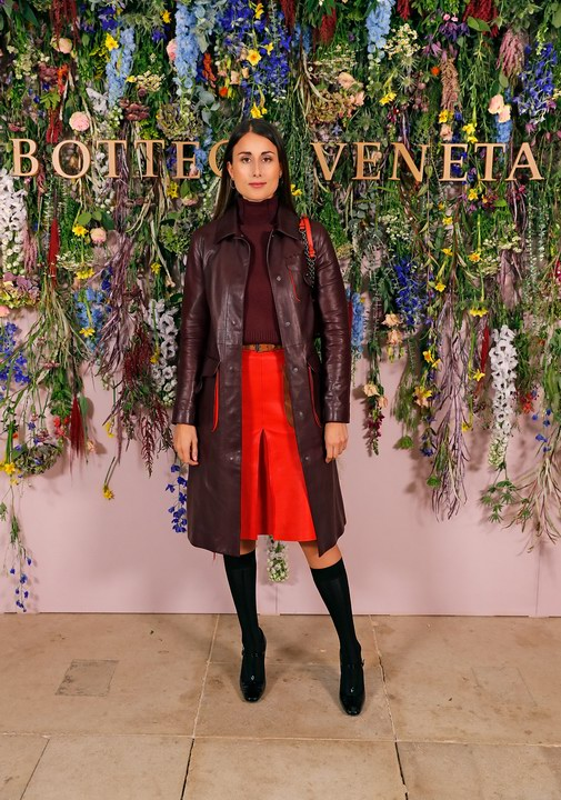 Julia Haghjoo attends Bottega Veneta's 'The Hand of the Artisan Cocktail Dinner' at Chiswick House And Gardens on November 9, 2017 in London, England.