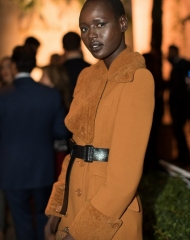 Ajak Deng attends Bottega Veneta\'s \'The Hand of the Artisan Cocktail Dinner\' at Chiswick House And Gardens on November 9, 2017 in London, England. (Photo by Shaun James Cox)