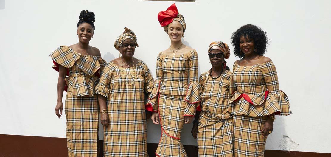 Kensemaa Aboah, Gladys Aboah, Adwoa Aboah, Mary Asare and Ernestina Aboah c Courtesy of Burberry_Juergen Teller