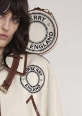 "Burberry presents the canvas ""The Pocket and TB Bag in canvas"