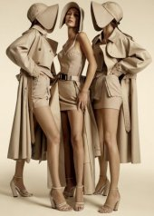 Burberry Spring Summer 2020 Campaign featuring Kendall, Bella Hadid and Gigi Hadid photo by of Burberry  Inez and Vinoodh