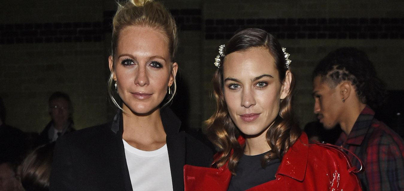 Poppy Delevingne and Alexa Chung wearing Burberry and the Burberry February 2018 show