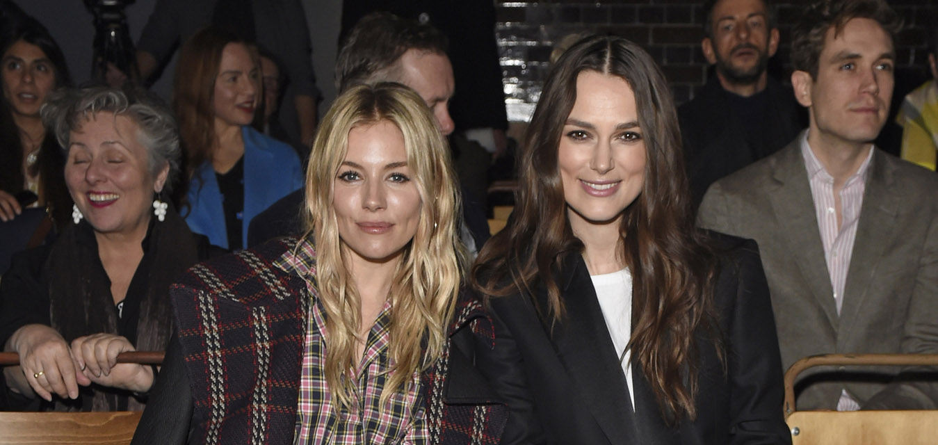 Sienna Miller and Keira Knightley at the Burberry February 2018 show
