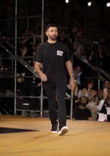 Riccardo Tisci at the Burberry Spring  Summer 2020 Show