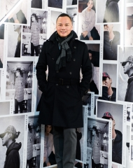 Andy Koh at an event to celebrate the launch of the Burberry x Kris Wu collection