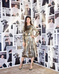 Chen Yu at an event to celebrate the launch of the Burberry x Kris Wu collection
