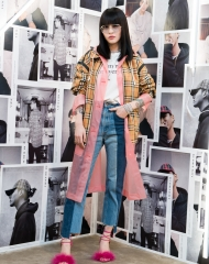 Fil Xiaobai at an event to celebrate the launch of the Burberry x Kris Wu collection