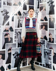 Li Hui at an event to celebrate the launch of the Burberry x Kris Wu collection