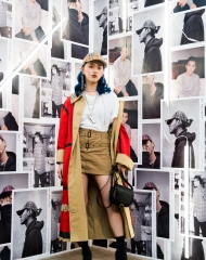 Li Yilin at an event to celebrate the launch of the Burberry x Kris Wu collection