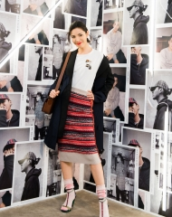 Linda Li at an event to celebrate the launch of the Burberry x Kris Wu collection