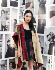 Rigel Davis at an event to celebrate the launch of the Burberry x Kris Wu collection