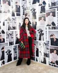 Wu Ling at an event to celebrate the launch of the Burberry x Kris Wu collection
