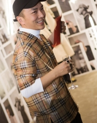 Xander Zhou at an event to celebrate the launch of the Burberry x Kris Wu collection