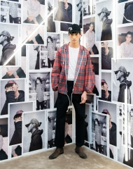 Ye Xiang at an event to celebrate the launch of the Burberry x Kris Wu collection
