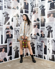 Yuyu at an event to celebrate the launch of the Burberry x Kris Wu collection