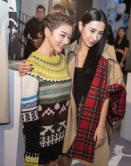 Yvonne Ching and Rigel Davis at an event to celebrate the launch of the Burberry x Kris Wu collection