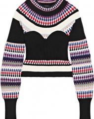 Burberry X Net-a-Porter. Black Corset Knit Top