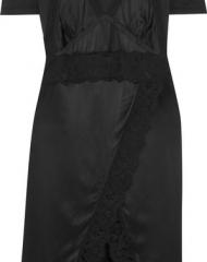 Burberry X Net-a-Porter. Black Satin and Jersey Mix Dress