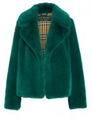 Burberry X Net-a-Porter. Dark Teal Faux Fur Jacket
