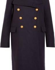 Burberry X Net-a-Porter. Navy Military Coat