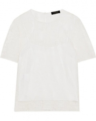 Burberry X Net-a-Porter. White Lace T-Shirt