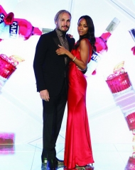 Campari Red Diares World Premiere . Marco Perego and Zoe Saldana (Photo by Vittorio Zunino Celotto/Getty Images)