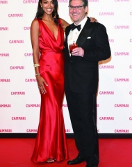 Campari Red Diares World Premiere . Zoe Saldana and Bob Kunze-Concewitz (Photo by Vittorio Zunino Celotto/Getty Images)