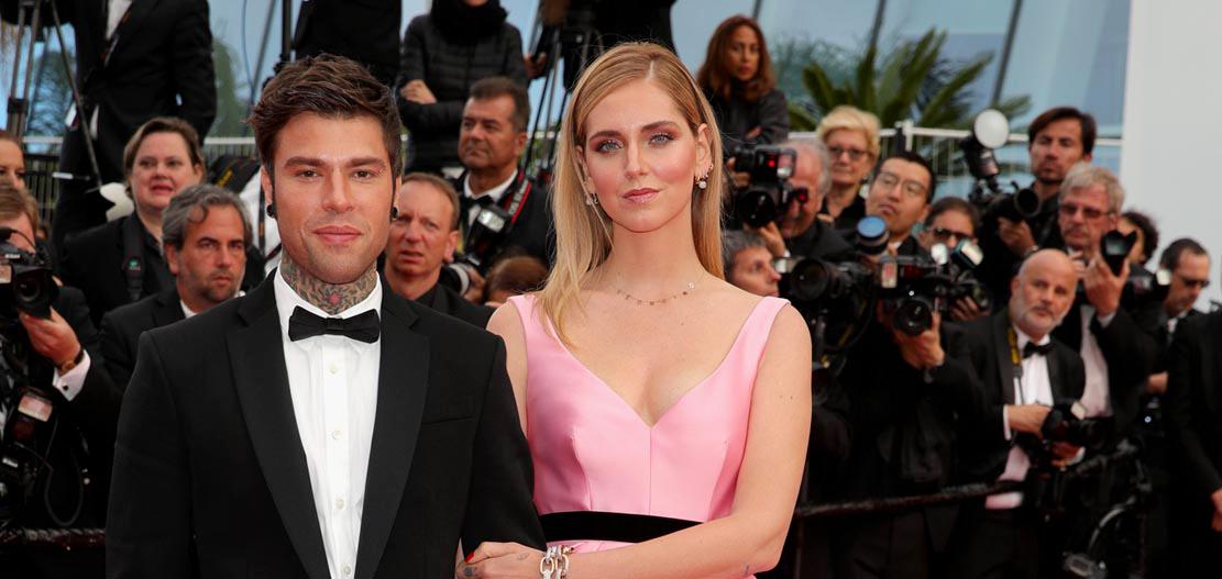 Fedez wore Moschino, Chiara Ferragni wore Alberta Ferretti. Cannes Film Festival 2018
