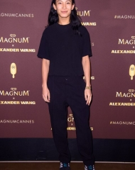 Alexander Wang wear impeccable and indulgent outfits at the celebrity-packed Magnum x Alexander Wang 'Take Pleasure Seriously' party in Cannes, France.  ph © Matt Crossick/PA/Magnum
