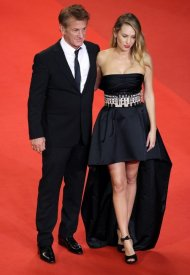 Dylan Penn with Sean Penn,  wore Chanel  at 74° Cannes International Film festival - photo by Andreas Rentz
