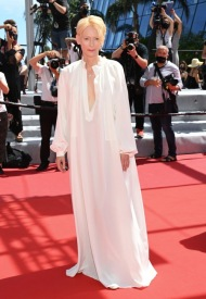 Tilda Swinton, wore Chanel  at 74° Cannes International Film festival - photo by Pascal LeSegretain