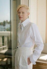 Tilda Swinton wore Chanel  at 74° Cannes International Film festival - photo by Dominique Charriau